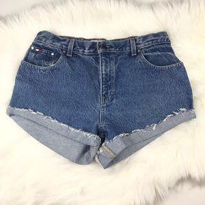 Vintage High Waist Mom Jeans Denim Shorts Sz 10